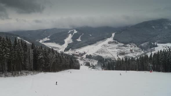 Thumbnail for Winter Ski Resort Panoramic View