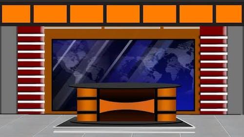 Virtual News Studio Set Background 2 1