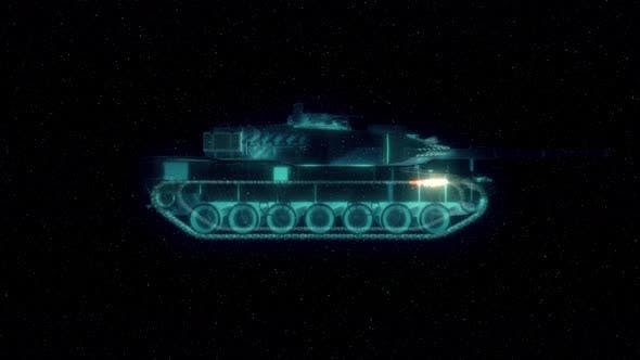 Detailed Tank Hud Hologram 4k
