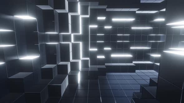 Grey Cubic Tunnel