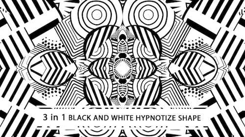Black And White Hypnotize Shape