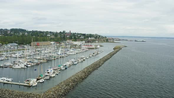 Thumbnail for Aerial View From Port Townsend Wa Harbor