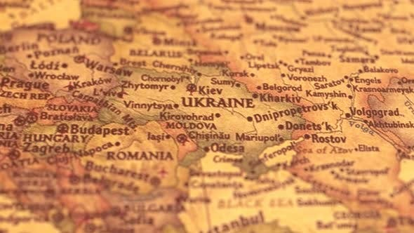 Thumbnail for Retro World Map European Countries.