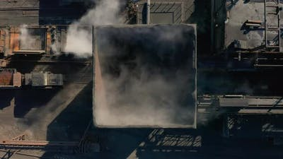 Aerial View. Coke Plant. Coke Batteries. Old Factory. Industrial View