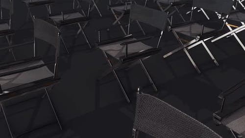 A Lot Of Director Chairs In A Row Hd