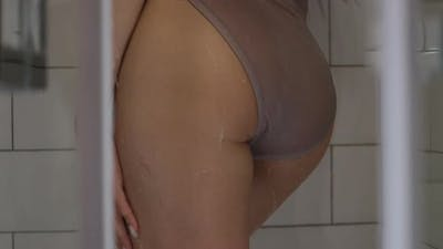 Sensual Naked Woman in Shower