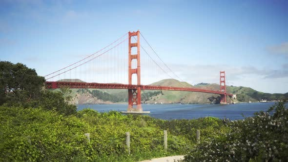 Thumbnail for Background plate of old architectural bridge near San Francisco bay trail