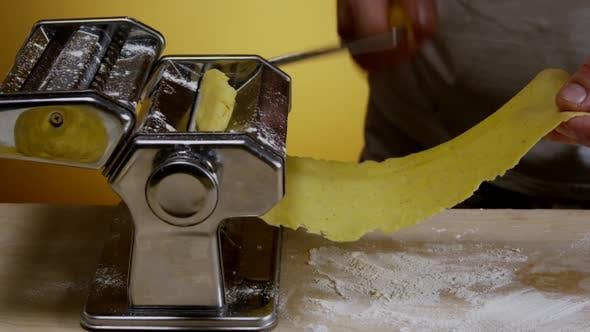 Thumbnail for Chef Prepares Dough For Homemade Pasta 11