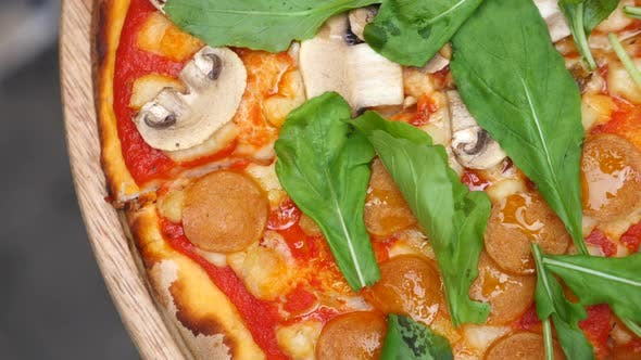 Closeup Of Vegan Pizza