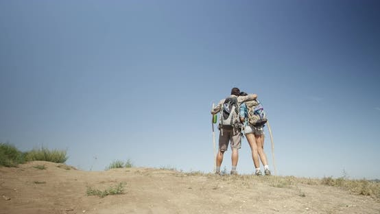 Thumbnail for Mexican couple standing on top of a mountain