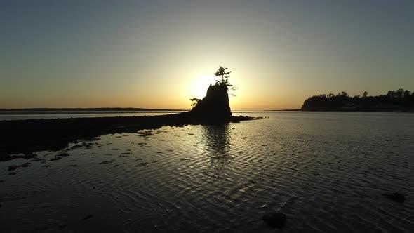 Thumbnail for Aerial shot of Siletz Bay, Lincoln City, Oregon