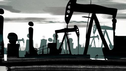 Polluting factory with oil wells - 3 version