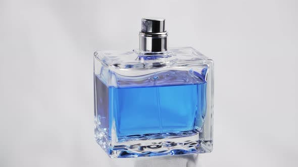 Thumbnail for Isolated on White with 360 Degrees in Rotation of a Men Blue Perfume