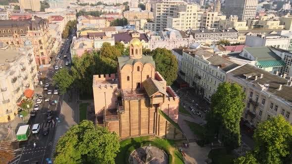 Architecture of Kyiv, Ukraine : Golden Gate, Aerial View