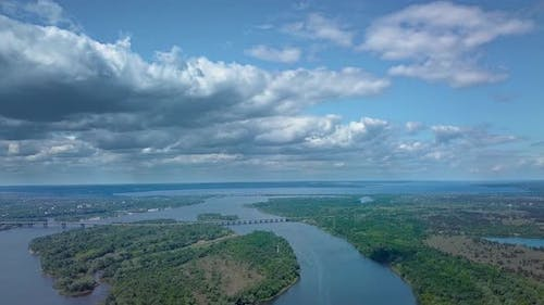 Flight Over the River Dnipro