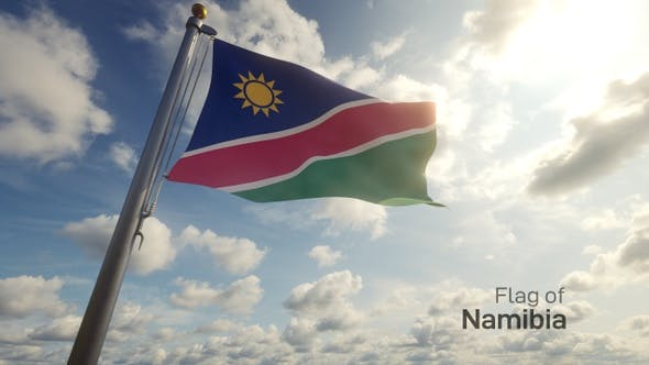 Thumbnail for Namibia Flag on a Flagpole
