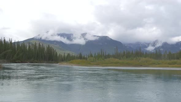 Thumbnail for Pan right of the lake in Banff National Park