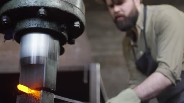 Thumbnail for Metal Forging Using Pneumatic Hammer