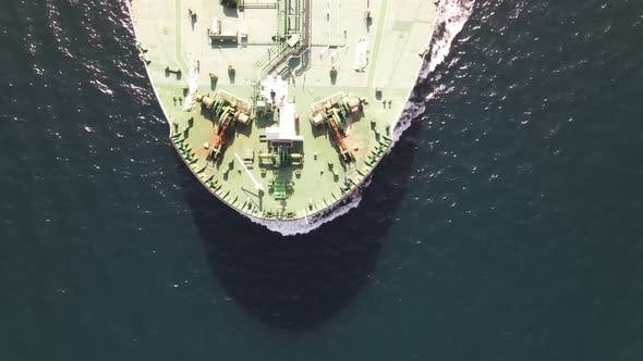 Sea Transportation Aerial Drone View