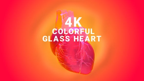 Colorful Glass Heart