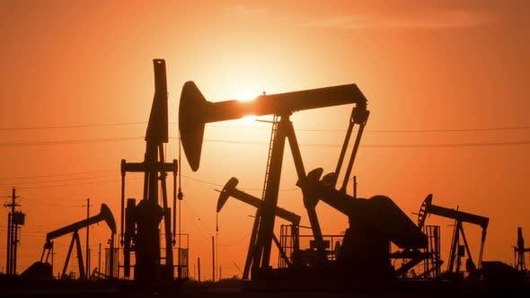 Thumbnail for Oil Wells At Sunrise