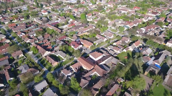 Aerial Footage Of A Suburb