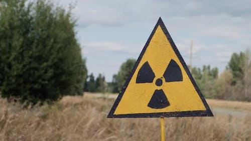 Radiation Sign Near Forbidden Red Forest