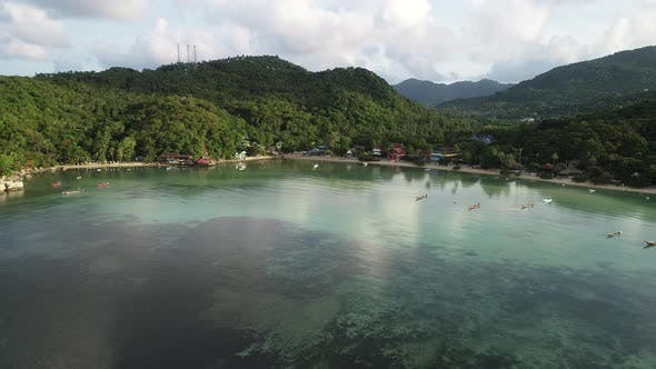 Thumbnail for Aerial shot on Tatoh bay, Koh Tao Thailand