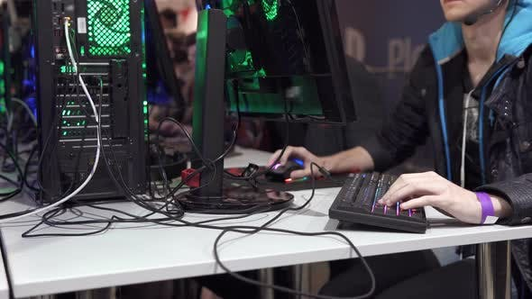 Cyber Tournament of Young Gamers in the Exhibition Hall