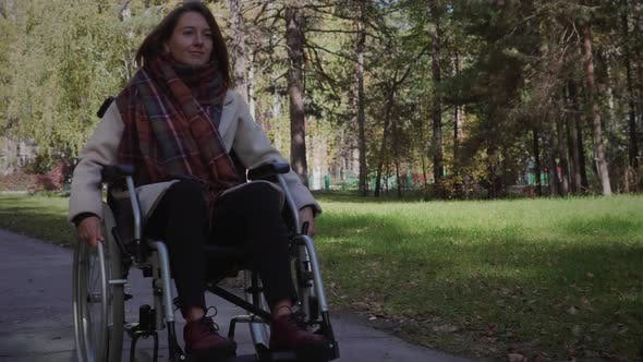 Thumbnail for Woman in wheelchair outdoor