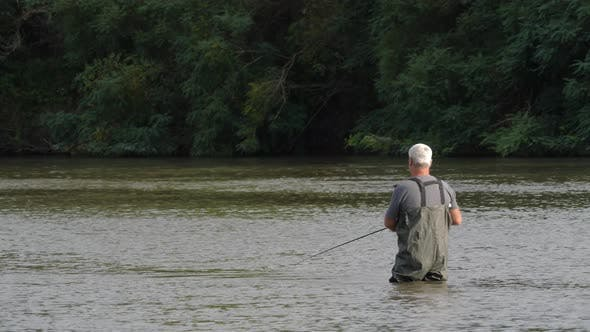 Spinner Fishing In The River