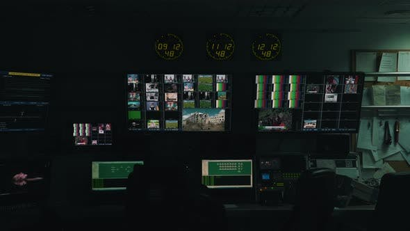 Thumbnail for Working Process in TV Control Room