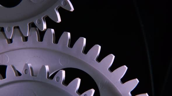 Abstrat Industrial Clock Gears