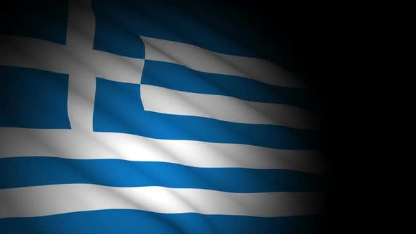 Thumbnail for Greece Flag Blowing in Wind