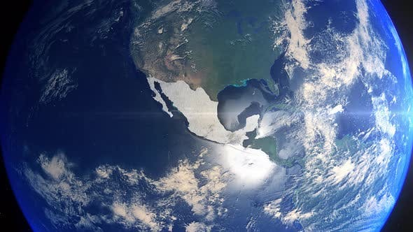 Thumbnail for Realistic Earth Zoom Highlight Country Mexico