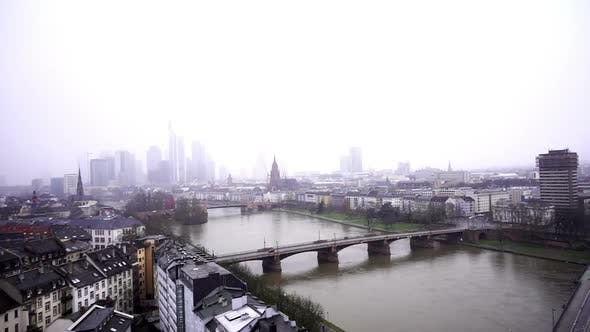 Thumbnail for Frankfurt Germany Maine River And Business Towers In Snowy Day 2