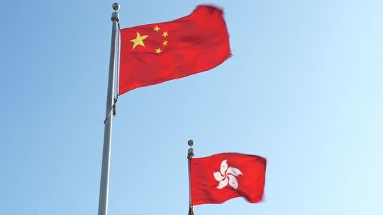 Thumbnail for China and Hong Kong flag