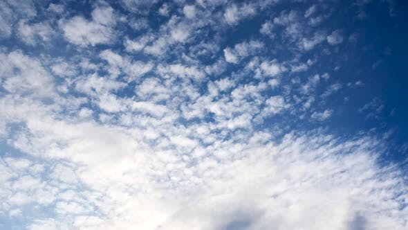 Thumbnail for Photography Daytime Sky With Fluffy Clouds Video Loop