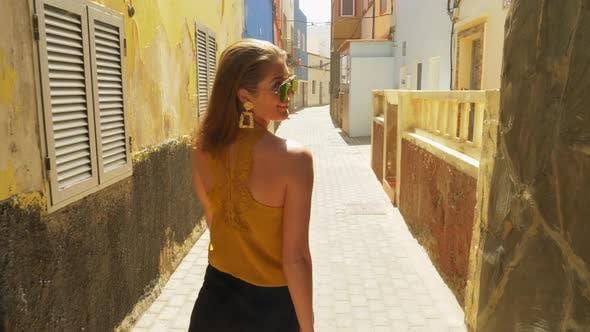 Thumbnail for Female Model Walking in Alley