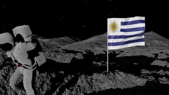 Thumbnail for Astronaut Planting Uruguay Flag on the Moon