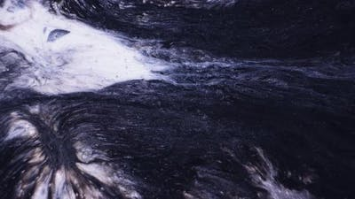 Abstract Black Paint