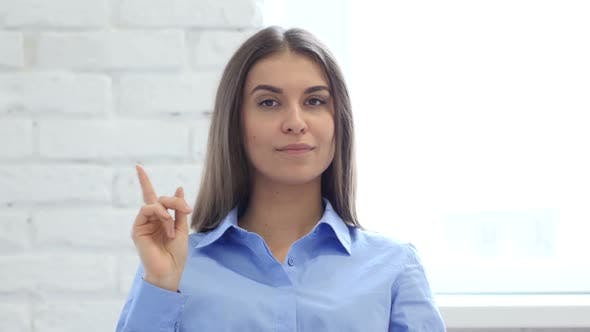 Thumbnail for Hispanic Young Woman Waving Finger to Refuse