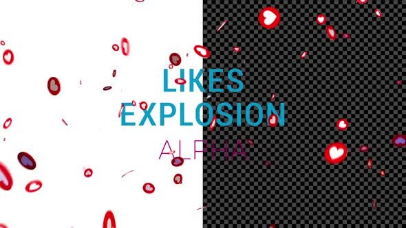 Social Media Live Style Hearts Explosion