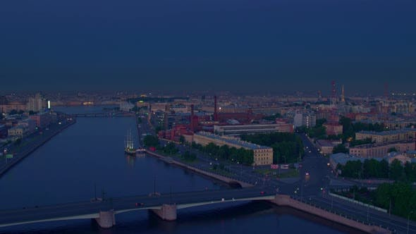 Thumbnail for Top View On St. Petersburg White Night