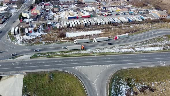 Thumbnail for Ring Road Cars Aerial View