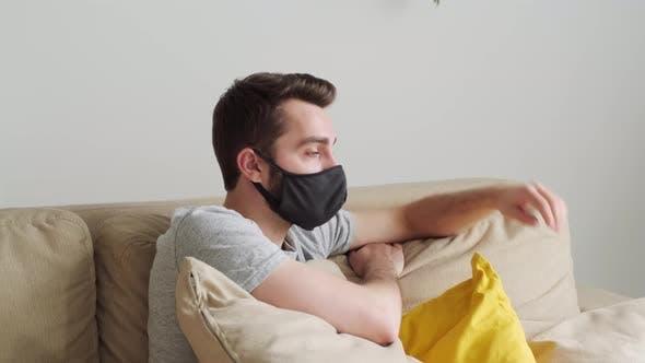 Thumbnail for Man Wearing Mask At Home