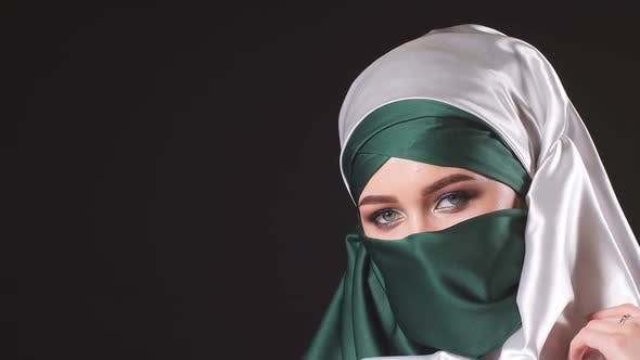 Thumbnail for Portrait of an Attractive Young Modern Muslim Woman in Hijab