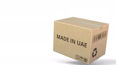 Box with MADE IN UAE Text