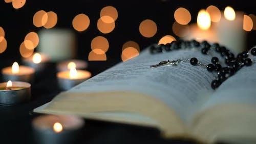Cross On Bible