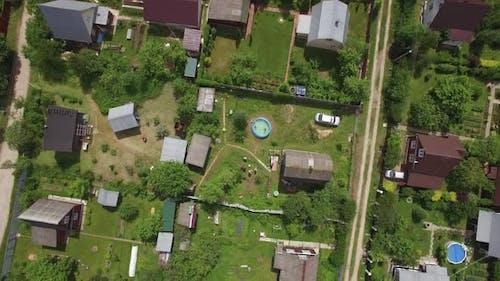 Aerial Shot of Dacha Community in Russia